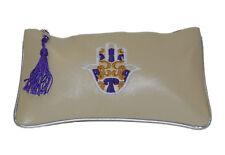 Moroccan Faux Leather Handbag Pouch Purse Women Make Up Clutch Wallet MED Beige