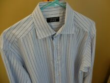 LUCIANO BARBERA Shirt, Blue, Navy & White Stripes,16/41 Spread Collar SUPERB