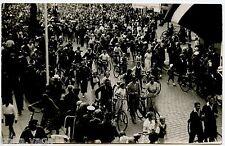 Bicycle Parade  Vintage Real Photo  Postcard