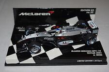 Minichamps F1 1/43 McLAREN MERCEDES MP4/18 TESTCAR 2003 ALEX WURZ