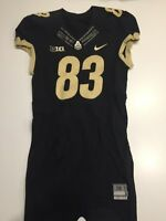 Game Worn Purdue Boilermakers Football Jersey Used Nike #83 Size 38