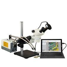 Omax 3X-300X Usb3 5Mp Ball-Bearing Boom Zoom Stereo Microscope 150W Fiber Light