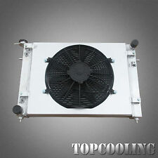 2 Row Aluminum Radiator+Fan Shroud Fit Holden Commodore VN VG VP VR VS Calais V6
