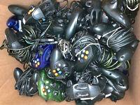 20 Broken Official OEM Original Xbox S Controllers Lot Parts/Repair