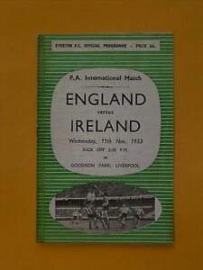 FIFA World Cup Qualifier - England v Ireland - 11th November 1953