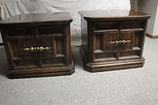 American of Martinsville Tradition Oak Tables and Curio Cabinet - $500