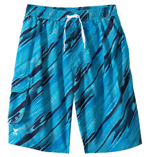 08c8e025a7 New Men's TYR Blue Turquoise Boardshorts Swim Suit Trunks - EASY RIDER -  Small