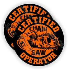 CHAINSAW Operator Hard Hat Stickers | Funny Helmet Decals Chain Saw Blade Labels