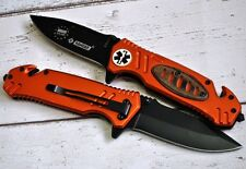 Rescue knife survival tourist Drop point Handle Messer Rettungs Kandar