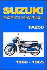 SUZUKI Parts Manual Colleda Twin Ace 250TA 250 TA 1960 1961 1962 1963 1964 1965