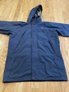 VTG Patagonia Storm Waterproof Jacket Blue Men's XL Gore Tex Rain Coat