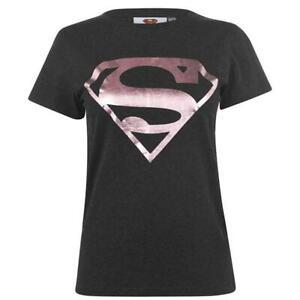 Ladies Womens Official DC Comics Supergirl Logo T Shirt Top
