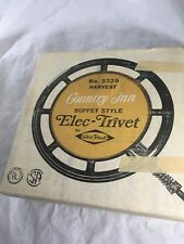 West Bend USA Vintage Electric Trivet Hot Plate Harvest Gold 3325 Country In New