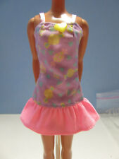 Pink label Pink/Lavender Sundress Yellow Heart Button w/ Loop/Hook Closure