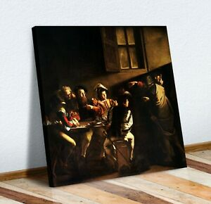 The Calling of Saint Matthew CANVAS WALL ART PICTURE PRINT PAINTING Caravaggio