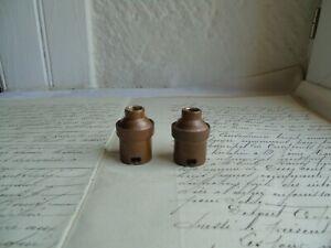 French  2 copper  sockets light bulb holder antique vintage for B 22