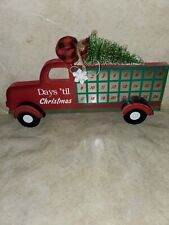 Christmas Red Truck Days til Christmas countdown 2019 advent Calender