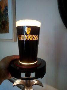Vintage Guinness Bar Top Advertising Display Light.