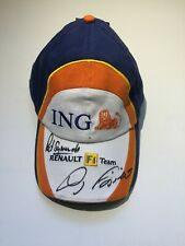 Formula 1 ING Renault F1 Team Hat Signed Giancarlo Fisichella World Champions