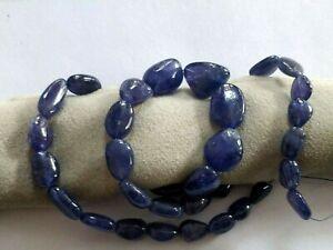 "Rare Big Purple Blue Tanzanite Nugget beads Natural Gemstones 16"" Strand 10-14mm"