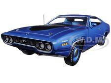 1971 PLYMOUTH GTX HARDTOP METALLIC BLUE LMTD ED 1002PC 1/18 BY AUTOWORLD AMM1065