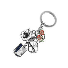 Anime Attack on Titan Keychain Scouting Legion Wings Of Liberty Multi Badge Cool