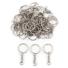 20 PCS Keyring Blanks Silver Tone Key Chains Findings Split Rings 4 Link