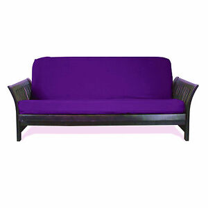 Twin Full Queen Fit 6 - 8 Inch Futon Cover Optional Add Matching Pillow Cover