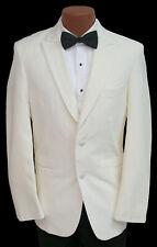 Men's Ivory Perry Ellis Tuxedo Jacket Dinner Wedding Mason Prom Cruise 40R