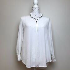 MELA PURDIE Size 10 White Top Shirt Long Sleeve Casual