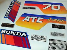 Honda ATC 70 Stickers Tank Warning Advice Custom Set Vintage Trike 1985 Sticker