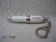 Porte clés Tupperware (keychain) Stylo Swarovski blanc