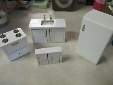 New Listing4 Piece Play House Furniture Kitchen Set Wood Doors Functional