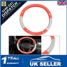 Universal Soft PU Leather Car Van Steering Wheel Cover Glove Protector 37cm-39cm