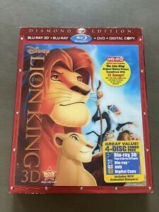 Walt Disney The Lion King Diamond Edition 4 Disc Blu-Ray, 3D, DVD, Digital Copy
