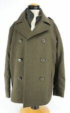 Mens Levis Green Peacoat  Wool Blend  With Zippered Vest Medium