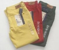 Tommy Hilfiger Mens Rebel Slim Fit, Slim Fit Straight Leg Colored Zip Fly Jeans