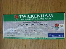 24/11/2001 Ticket: Rugby Union - England v South Africa (Slight Fold)