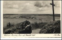 Bettenfeld Eifel Rheinland Pfalz alte AK ~1935/40  Blick vom Mosenberg Maar