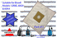Bissell High Filtration Vacuum Bags Pk3 12R8 68G9 60A4 Part BS59P1 aka 2037276