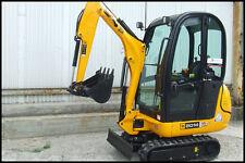 Jcb 8014/8016/8018 Mini Escavatore Completo Cromo Decalcomania con Safty Spia