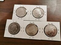 5 X 2019 50c Jody Clark 50 cent JC Effigy Australian coin