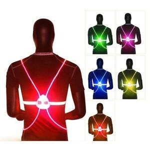 360 Reflective LED Flash Driving Vest High Visibility Night Running Cycling