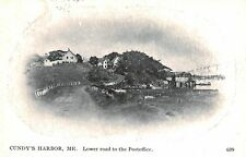 Cundy's Harbor,ME.Vignette,Lower Road to Post Office,Cumberland Co.Used,c.1940s