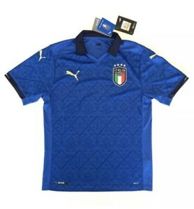 Puma Men's Italy National Team Soccer Jersey Blue Size M