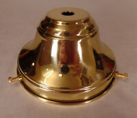 "NEW Spun Polished Brass 4"" Fitter Fixture Shade Holder With Set Screws #SH764"