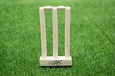 More details for alastair cook signed souvenir stumps england cricket legend aftal coa