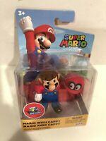 "Nintendo Super Mario Odyssey Mario With Cappy 2.5"" Mini Figure Quick Ship"