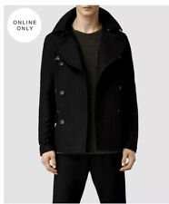 All Saints Calton Pea Coat, Medium, Cost £268