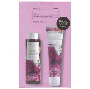 Korres Japanese Rose Shower Gel 250ml& Body Milk 125ml Body Pampering Set